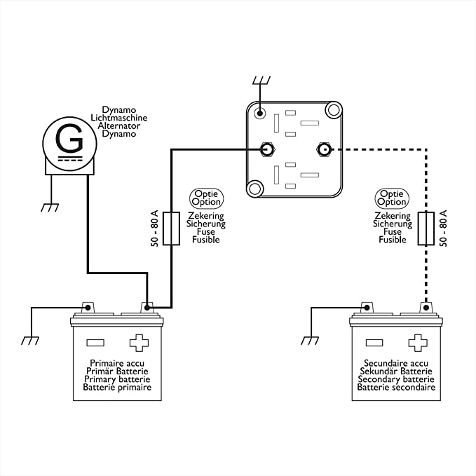 Vollautom. Dual Batterie-Trennrelais 12V / 140A.: Amazon.de: Auto