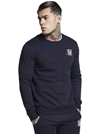 d3b60130e27 SikSilk - Curved Hem Crew Sweatshirt