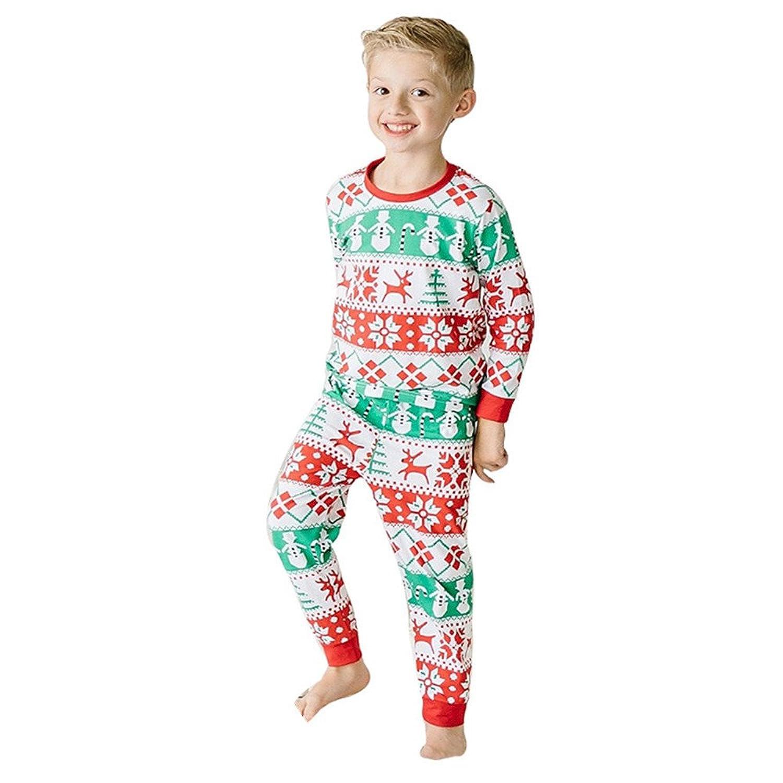 1-6 ans Mixte Enfant Pere Noel Ensemble de Pyjama