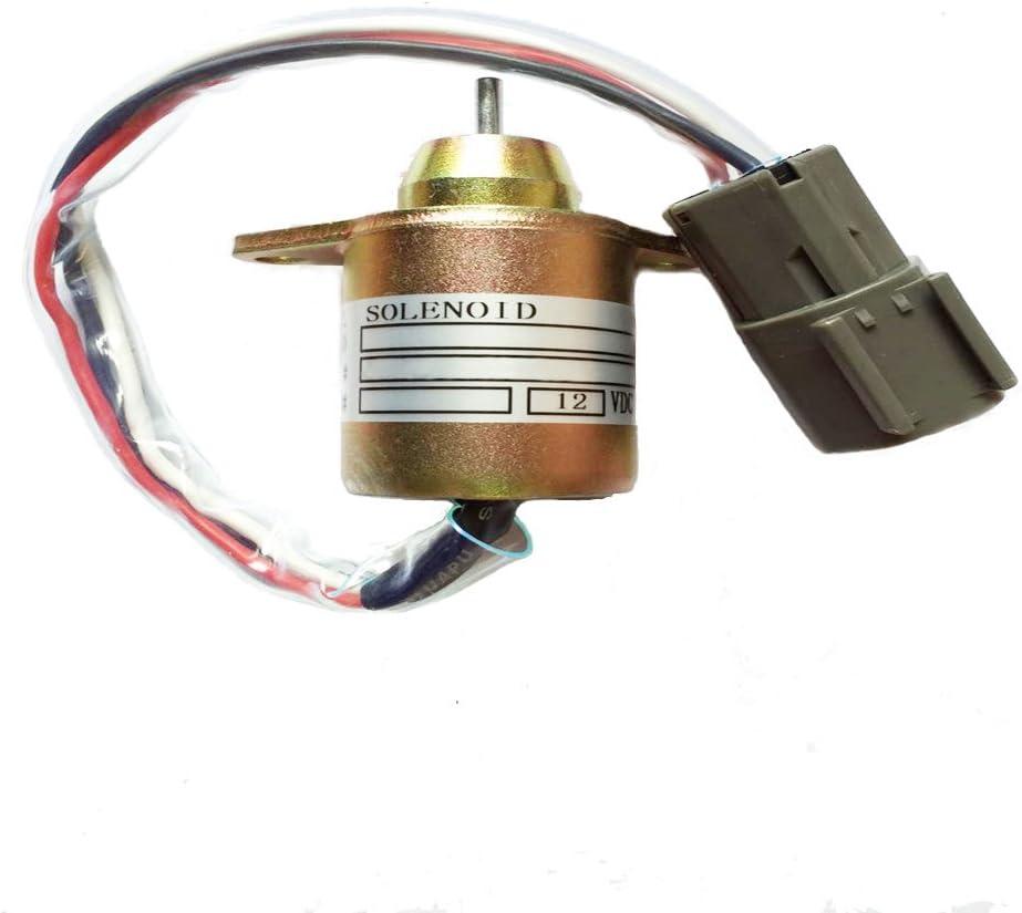 Fuel Stop Solenoid Valve For John Deere 3203 4105 3032E 3036E 3038E 12V