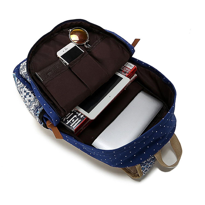 abshoo casual canvas dot backpack cute lightweight