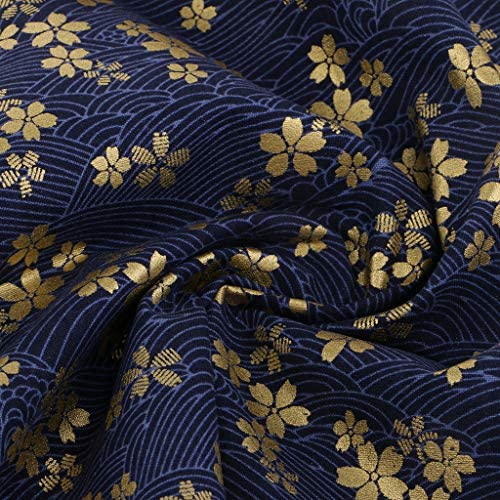 Pukido 160CMx50CM Japanese kimono dressmaking cotton fabric patchwork fabric crafts material doll cloth tecidos quilting sewing tissue Color: A