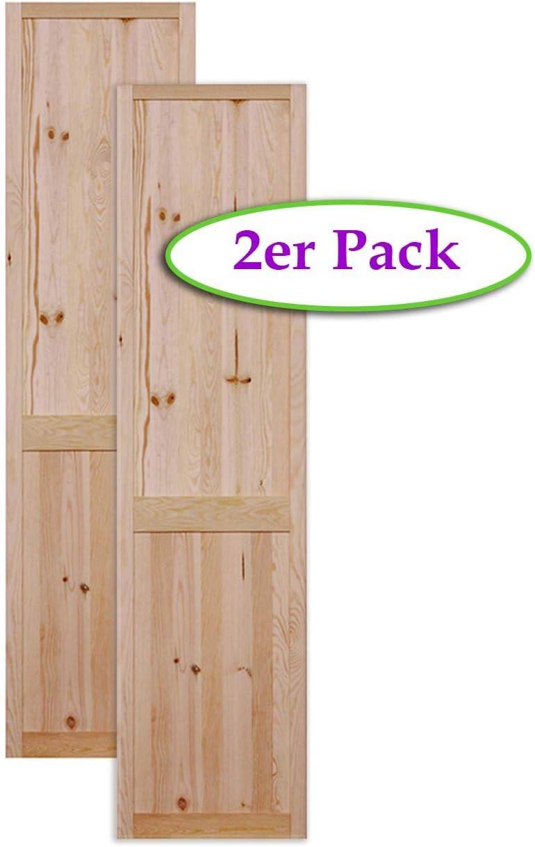Vierer Paket 4-er Pack Kassettent/ür Holzt/ür natur 69 x 39,4 cm Schrankt/ür Raumteiler Schiebet/ür f/ür Regale Schr/änke Kiefer Holz unbehandelt M/öbel