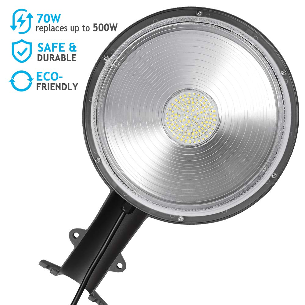 70W LED Barn Lights LEDMO - with Monuting Arm 9100lm Dusk to Dawn LED Outdoor Security Flood Lights with Photocell Area Lighting 5000K Daylight LED Yard Lights Brightest Waterproof by LEDMO (Image #4)