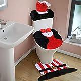3 Piece Christmas Santa Bathroom Decoration
