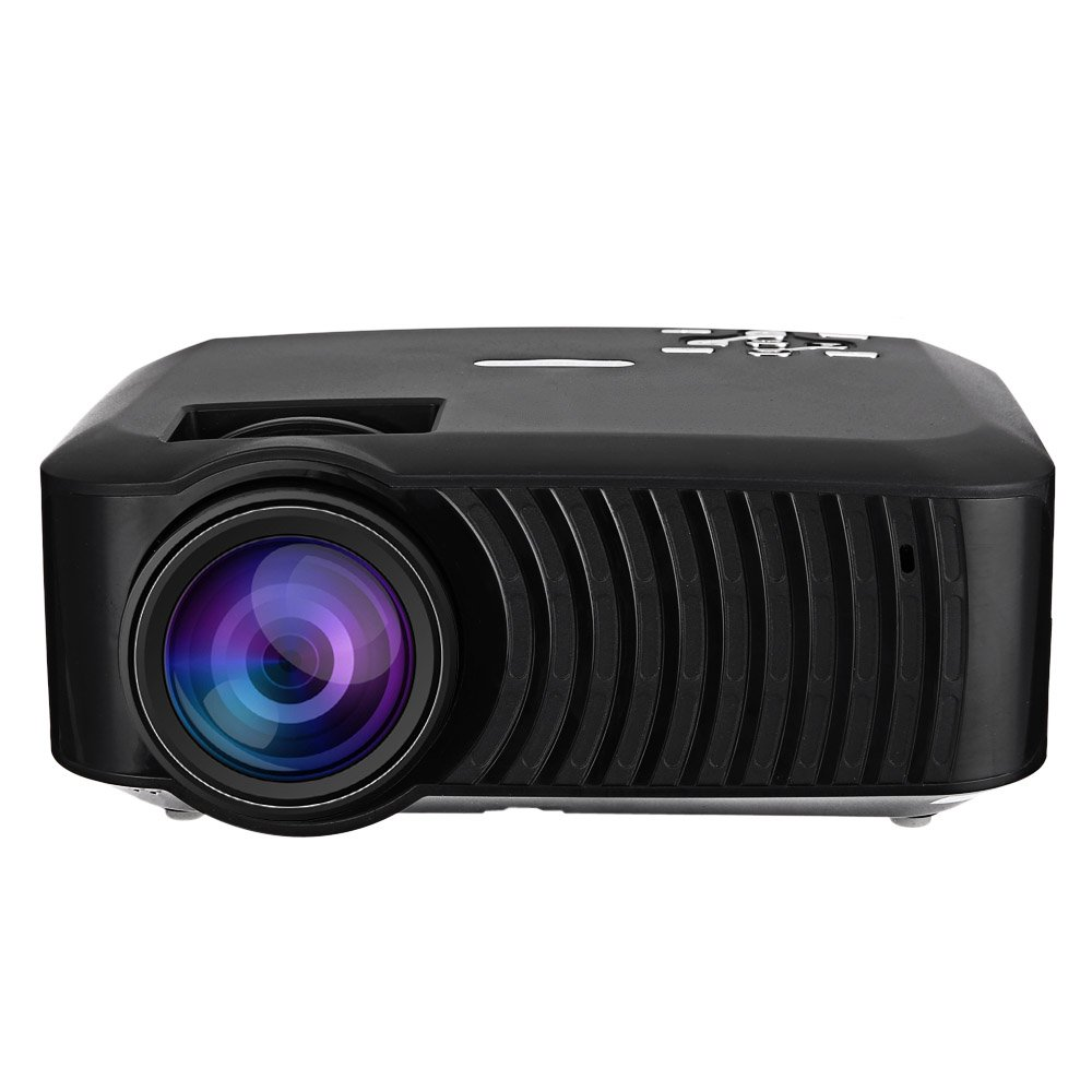 LCD Portable Home Projector, EarMe Android 4.4 Wireless Bluetooth 4.0 WiFi 3000 Lumens 1280 x 720 Pixels for Home Office Education