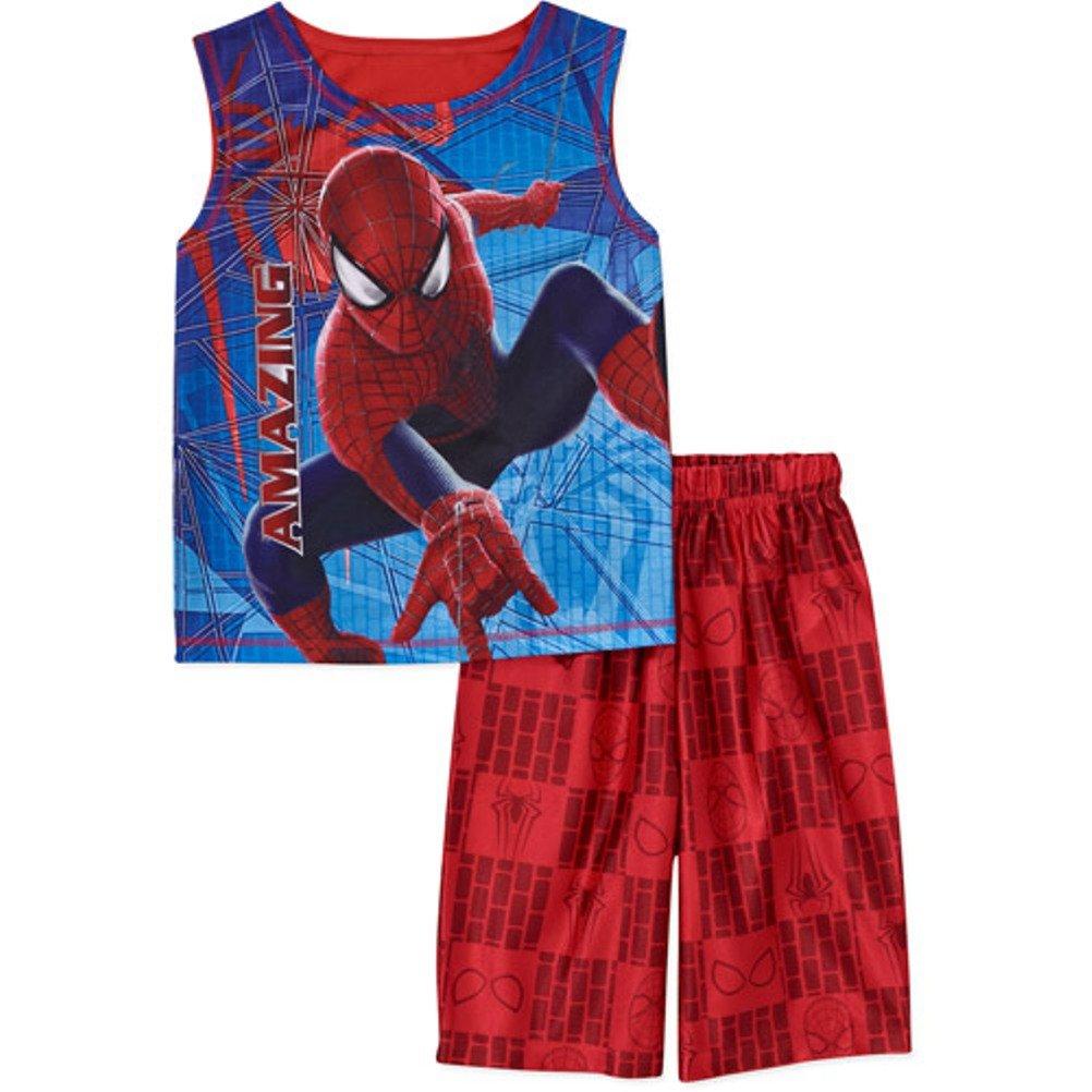 Marvel Spiderman 2 PC Short Sleeve Pajama Set Boy Size 6//7