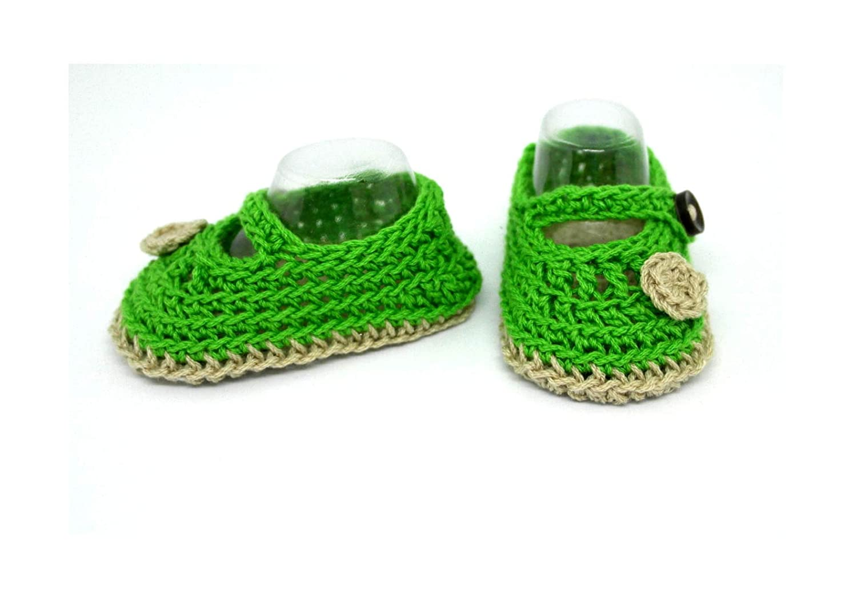 Botines para bebés, Zapatos de bebé de ganchillo, Zapatos Mary Jane, Sandalias veraniegas, Zapatos de niñas de flores, Zapatos de bebé, Botines de bebé ...
