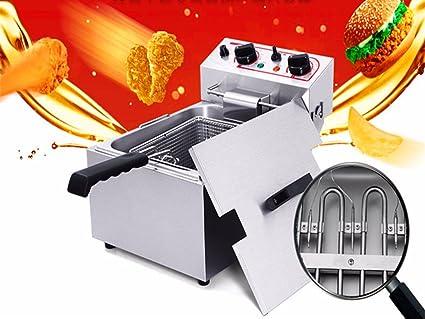 MXBAOHENG - Freidora eléctrica comercial para fritters fritos franceses, pollo, 220 V