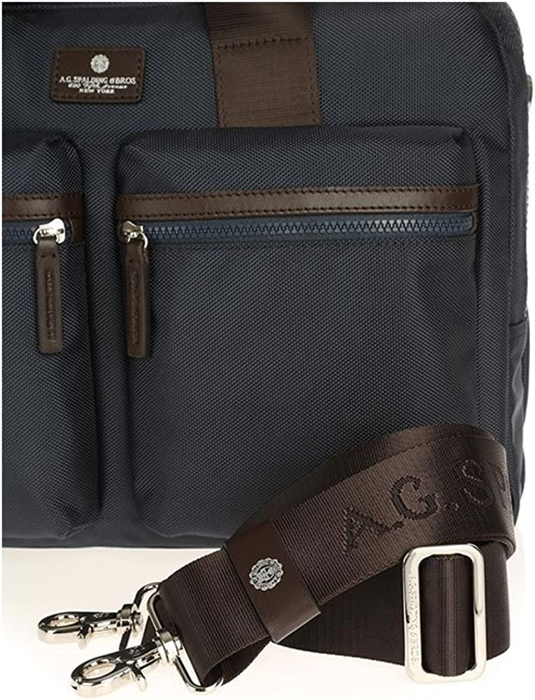 Spalding /& Bros 180110-Bleu Cartable /à 2 zip Sly