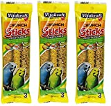 VitaKraft Kracker Crunch Treat Sticks Variety Pack for Parakeets - 3 PACK