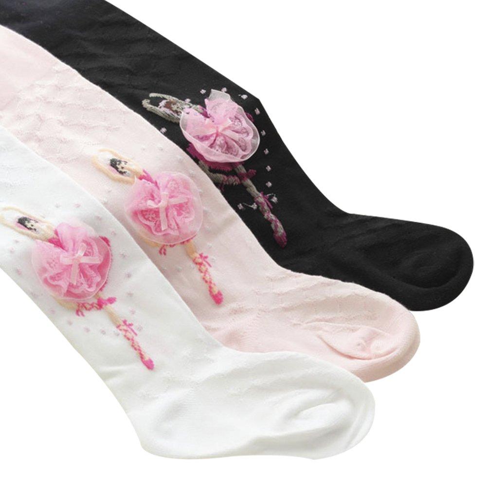 Taiycyxgan Girls Cotton Leggings 1-10T Ballet Tights Stocking Panties Socks 3 Pack