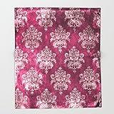 Society6 Old shabby vintage damask pink purple pattern Throw Blankets 88'' x 104'' Blanket