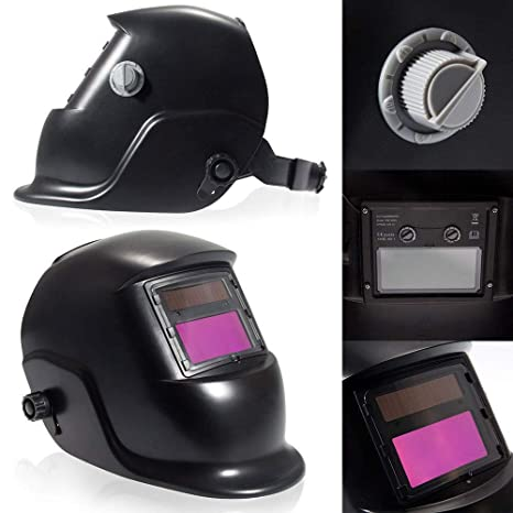 WS-107 Protective Gear Welding Helmet Solar Powered Auto Darkening Mask Hood