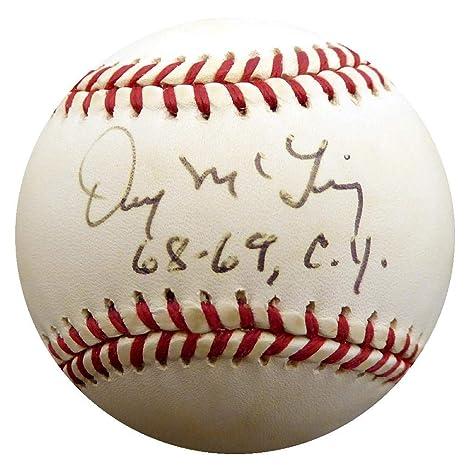 w//COA Detroit Tigers 30 Game Winner! Denny McLain Autographed Signed Baseball