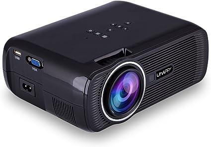 Uhappy U80 3000 Lumens LED Mini Proyector, Full HD 1080P Video ...