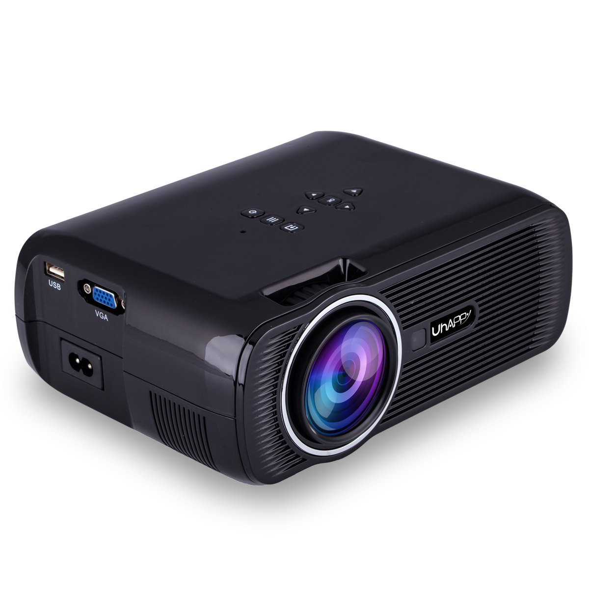 UHAPPY U80 Mini LED HD projector Portable projector (EN) - Black by U Happy (Image #1)