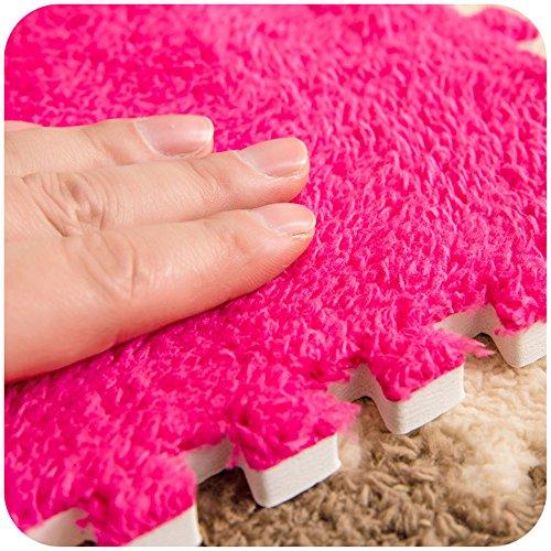 Carpet Interlocking Floor Tiles - Plush Carpet Area Rug - Puzzle Floor Mat - Interlocking Carpet Tiles, Thick, Non Toxic, Anti-Fatigue, Fluffy,Premium Foam Mat by Meng Ge (Image #4)