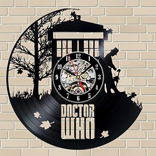 (Doctor Who Gift Vinyl Record Wall Clock Fan Black Room Idea …)