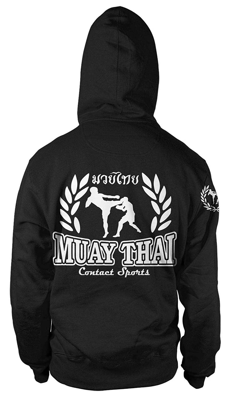MMA Fäuste Kapuzen-Sweatshirt Hoodie Kapu Neu Boxen Muay Thai Games Freefight KO
