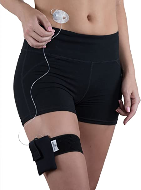 Amazon.com: Athletic Insulin Pump Case with Strap for t:Slim (M Leg,  Black): Health & Personal Care
