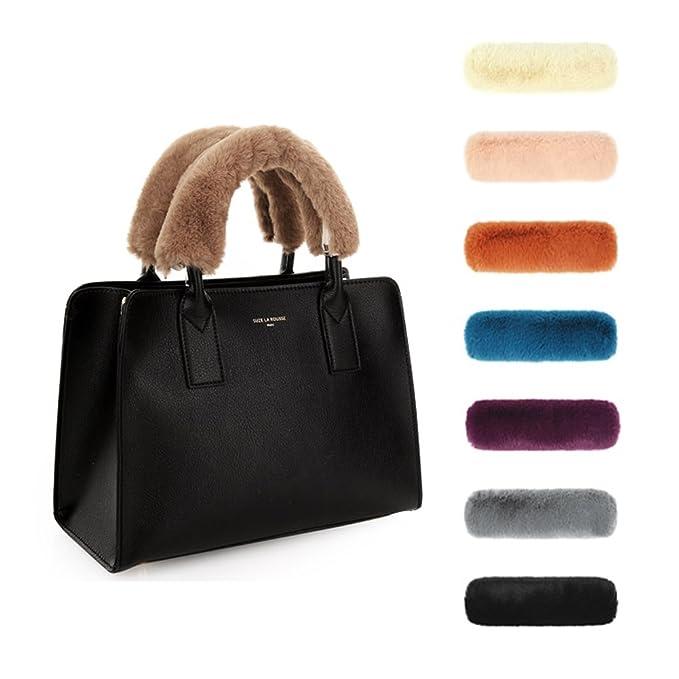d19ea97108 Amazon.com  Sassy Pippi Faux Fur Bag Handle Cover (Beige)  Clothing