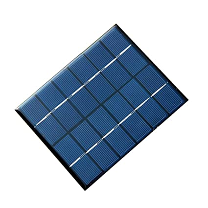 Amazon.com: Jadenzoe Panel solar, 6 V, 330 mAh, 2 W, micro ...