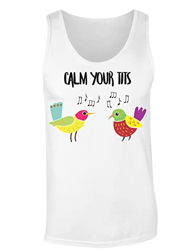 Calm Your Tits Camiseta sin mangas para mujer Shirt