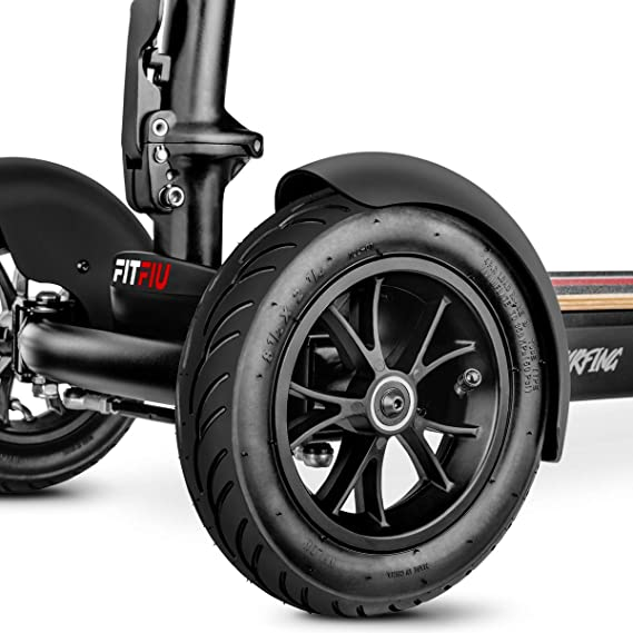Fitfiu - Surfing Negro Patinete electrico 3 Ruedas 1000W 25km/h bateria Samsung 48V Plegable, Adultos Unisex, 110X48,5X37