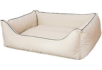Cama para perros CopcoPet Rocco 2 en 1, impermeable y de piel sintética, con