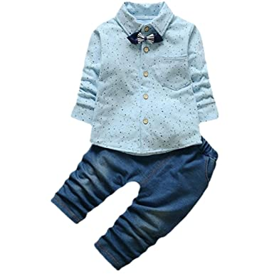 Bekleidung Longra Baby Jungen Rasterdruck Gentry Kleidung