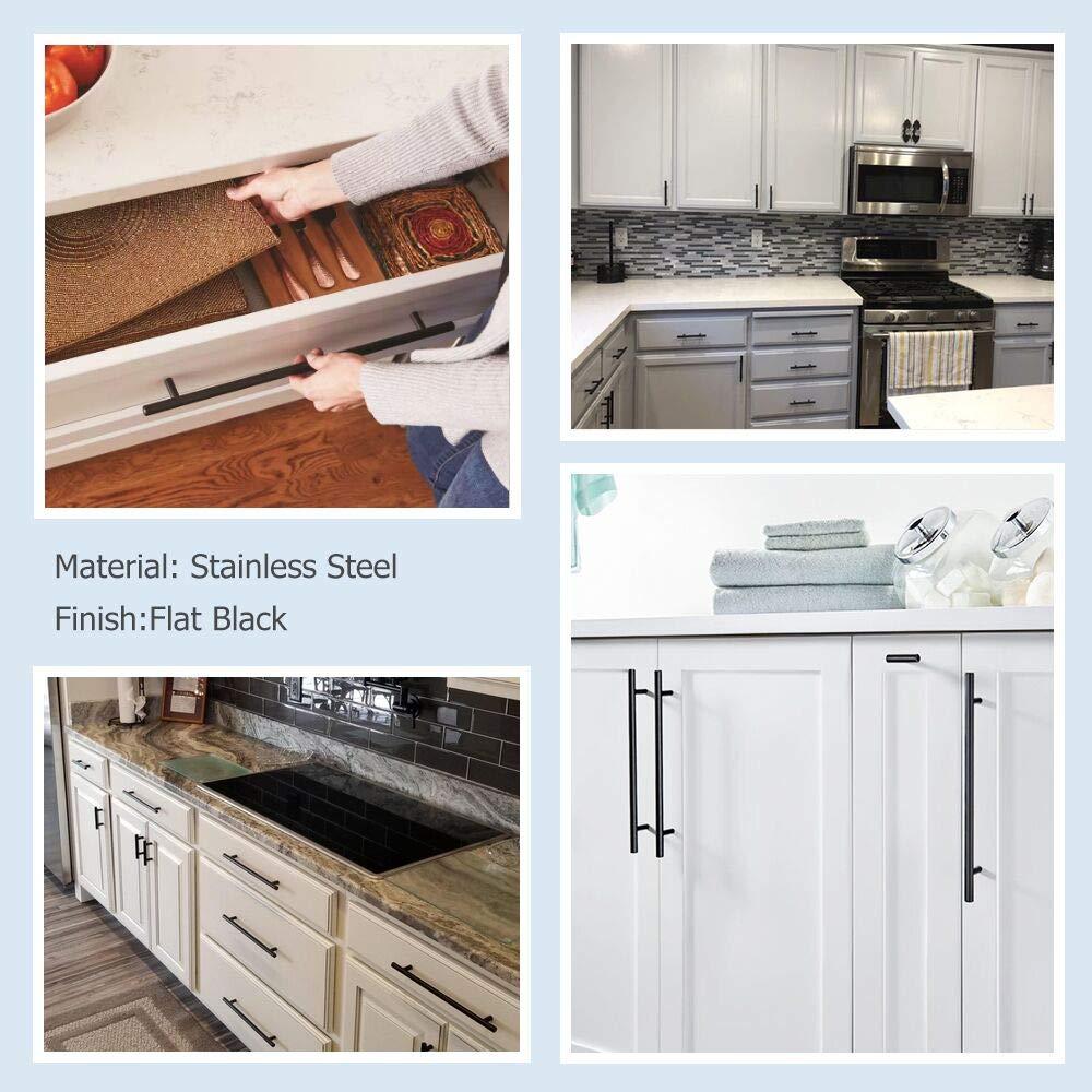 HD201BK Vintage Kitchen Cabinet Hardware Matte Black Cabinet Handles for Dresser Drawer homdiy 3.5 inch Cabinet Pulls Black Drawer Handles 20Pack