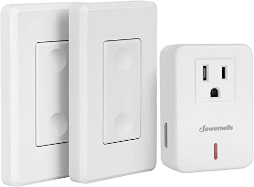 DEWENWILS Wireless Remote Wall Switch and Outlet, Plug in Remote Control on switch to switch wiring, switch to plug wiring, switch to light wiring,