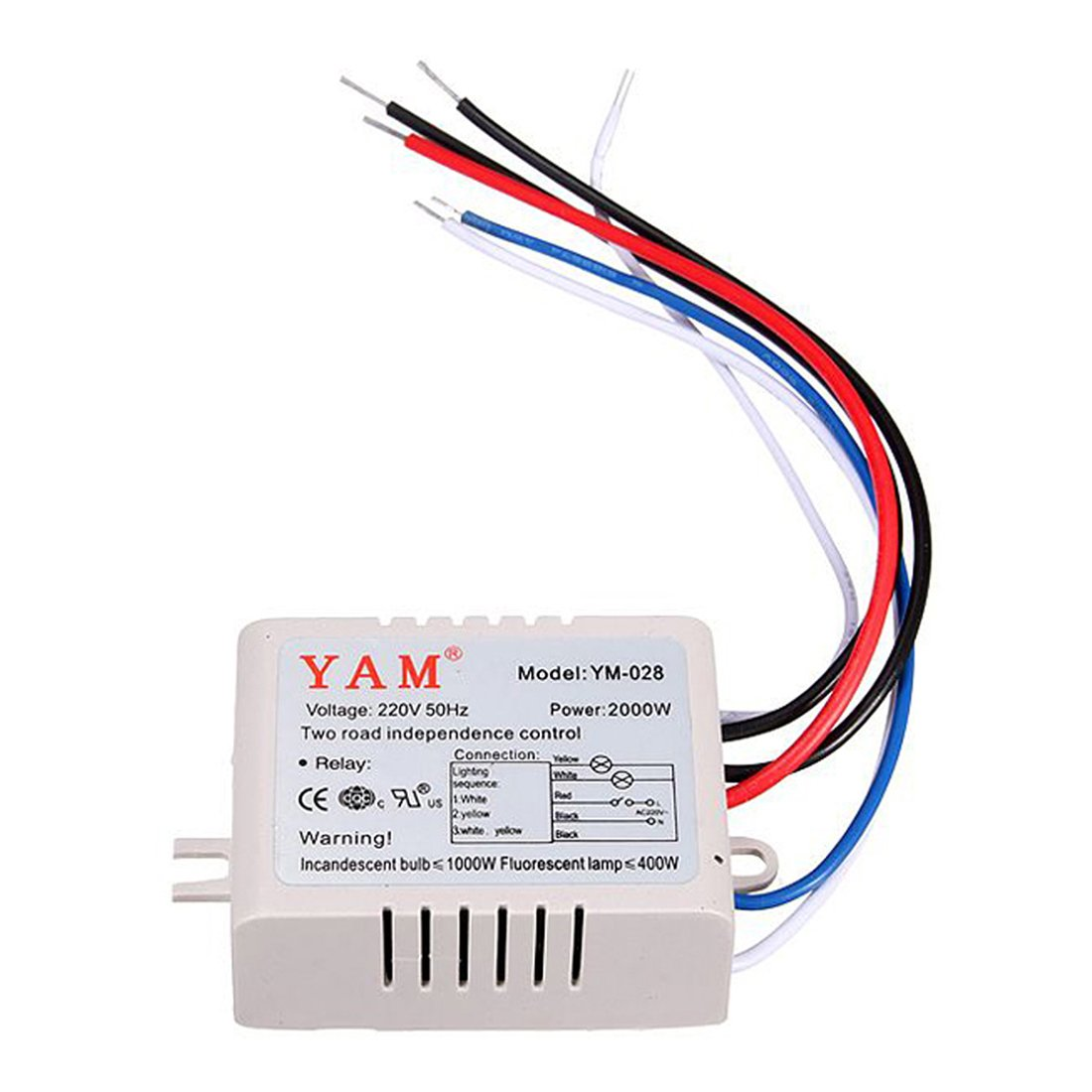 Lamp Remote Control Switch Yam Ac 220v Wireless Light Digital 2 Way Battery With White 028
