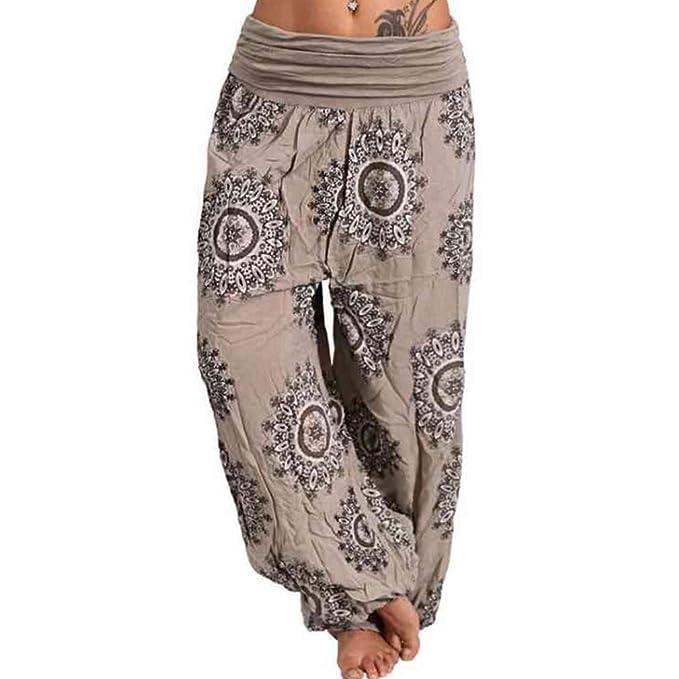 d019c08ad Hibote Women Oversize Casual Pants Harem Trouser High Waist Aladdin Pants  Women Loose Harem Pants Soft Great Comfort Yoga Pants Hippy S-5XL:  Amazon.co.uk: ...