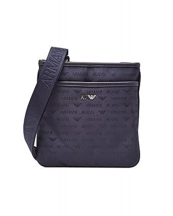 Armani Jeans Logo Messenger Bag, Navy Stash Bag  Amazon.co.uk  Clothing b712d3dd92