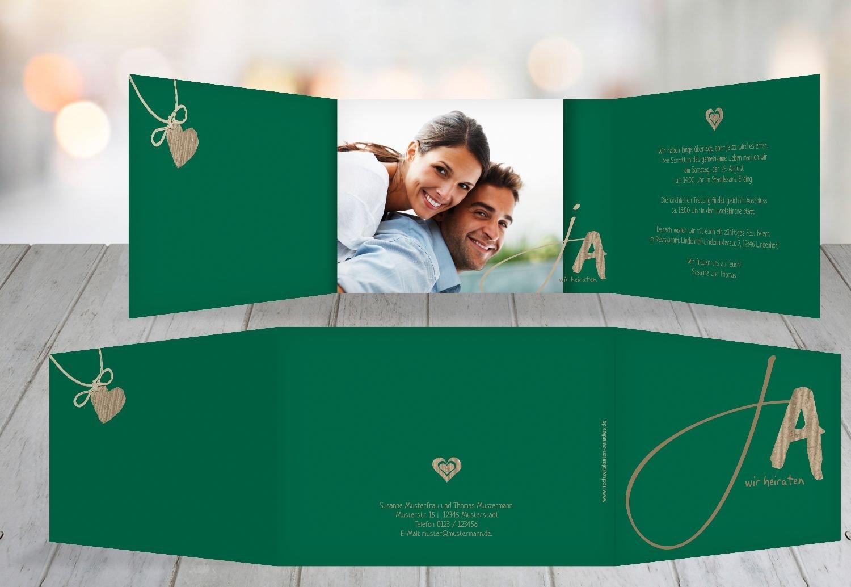 Wedding invitation ja dark green 80 karten amazon co uk kitchen home