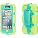 Griffin iPhone 5/5s, iPhone SE Rugged Case, Survivor All-Terrain Case, Lime/Mint - Military-Duty Case w/ Belt Clip for iPhone 5s