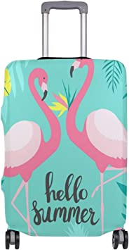Elastic Travel Luggage Cover Flamingo Bird Suitcase Protector for 18-20 Inch Luggage