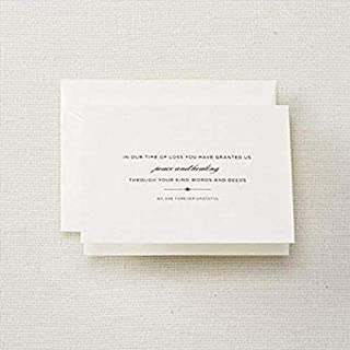 product image for Crane & Co. Hand Engraved Sympathy Notes (CF1182),Pearl White