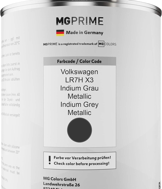 Mg Prime Autolack Dose Set Für Volkswagen Vw Lr7h X3 Indium Grau Metallic Indium Grey Metallic Basislack 2k Klarlack Härter Spritzfertig 2 5l Auto