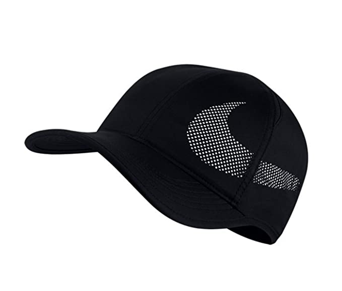 854501014a0897 Amazon.com  NIKE Men s Court AeroBill Featherlight Tennis Hat Black ...