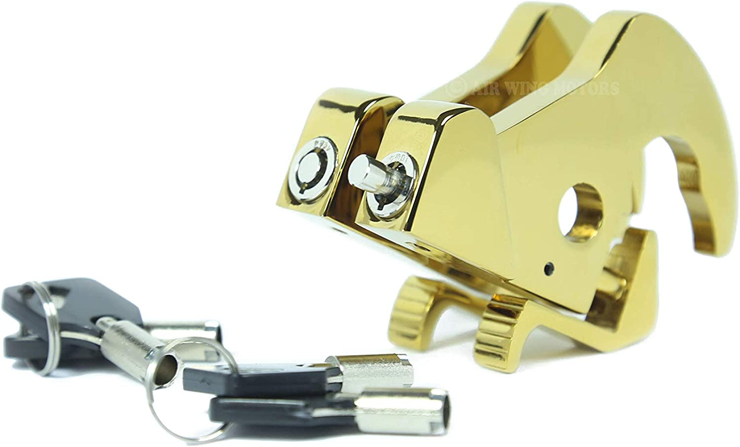 Rotary Docking Latches with Locks for Harley Davidson Sissy Bar Uprights and Luggage Racks AIR WING MATERIALS
