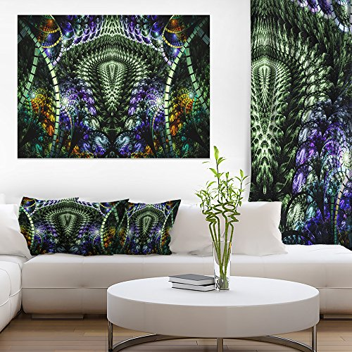 Unique Colorful Fractal Design Pattern Oversized Abstract Canvas Art by Design Art