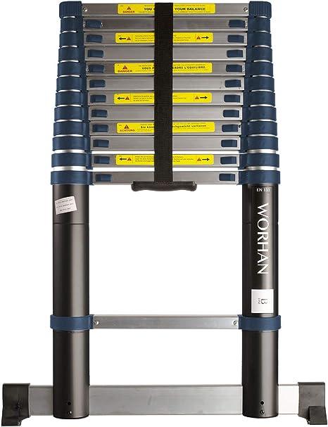 Worhan - Escalera telescópica profesional de aluminio anodizado ...