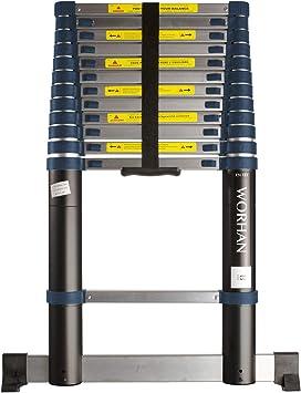 WORHAN® 3.8m Escalera Telescopica PRO Multiuso Aluminio Anodizado Calidad Alta 380cm (.3.8m B-line) 1K3.8B: Amazon.es: Bricolaje y herramientas