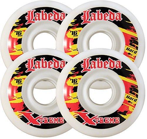 TGM Skateboards Labeda Wheels Outdoor Roller Hockey Extreme Hard 72MM White...