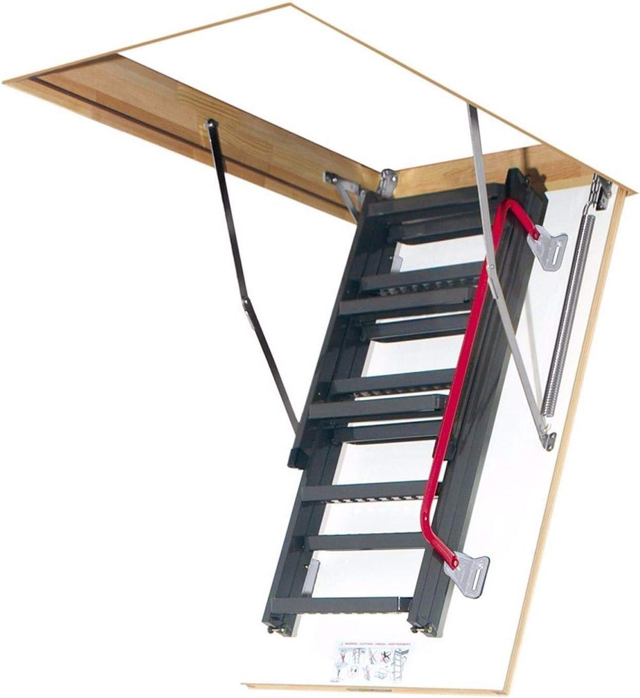 Ged/ämmte Bodentreppe Dachbodentreppe mit LXL Abdeckleisten Viele Gr/ö/ßen und Modellen Speichertreppe LWK Komfort, 60 x 120 x 280 cm