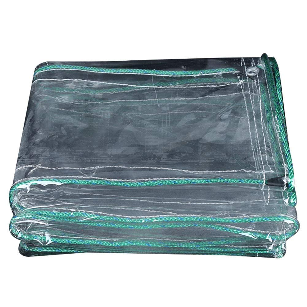 Clair 1.3x3.9m JH& BÂche Imperméable Transparente en PVC épaissie, BÂche Imperméable Tente De Prougeection Solaire Pare-Soleil BÂche en Pot De Fleurs Douce Et Facile à Plier, Multi-Taille en Option