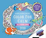 Color for Calm All Year Long 2018: Box Calendar with Colored Pencils attached to Base